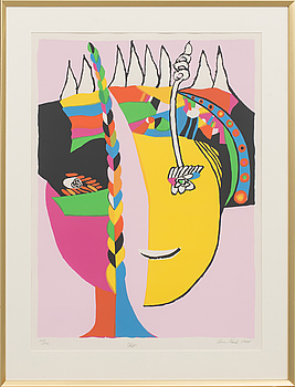 JÖRGEN NASH, litograph in colour, signed and numbered 201/250,
