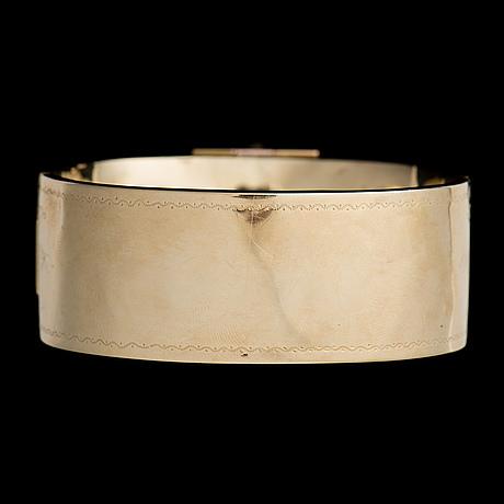 Armring, 14k (56) guld, emalj. karl järveläinen, st petersburg 1859 1872