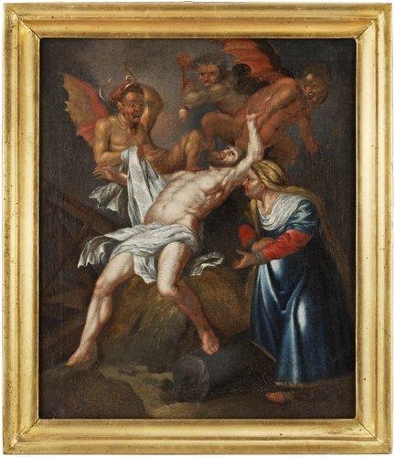 David klöcker ehrenstrahl, job hemsöks av satan och hans demoner; hans hustru förmanande honom