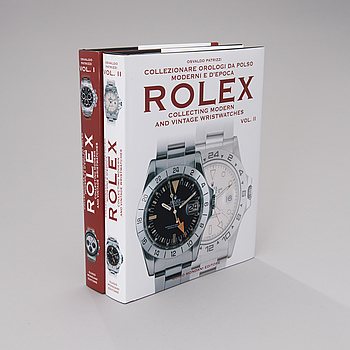 ROLEX, II vol. books Collecting modern and vintage wristwatches by Osvaldo Patrizzi.