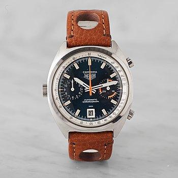 """7. HEUER, Carrera, """"Tachy"""", kronograf, armbandsur, 38 mm,"""