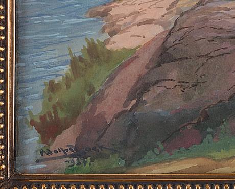 Adolf bock, landskap med klippor