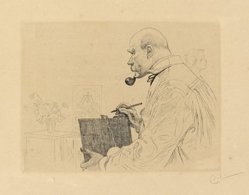 "151. CARL LARSSON, ""Self-portrait""."