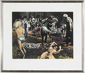 JOHN-E FRANZÉN, a color litograph, signed and numbered 151/365. 1990.