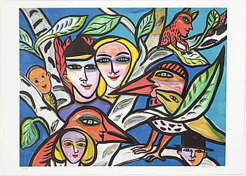ULRICA HYDMAN-VALLIEN, färglitografi, signerad o numrerad 948/1600.
