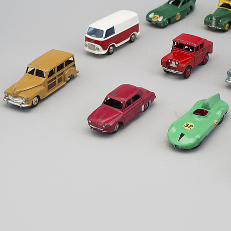 A set of 17 toy cars by dinky toys and tekno, england and denmark 1950 60's