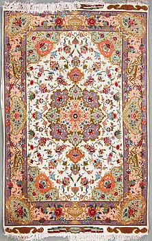 MATTA, Isfahan/Täbris, part silk ca 150 x 102 cm.