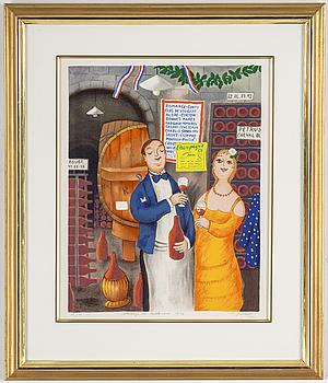LENNART JIRLOW, färglitografi, signerad och numrerad 36/100.