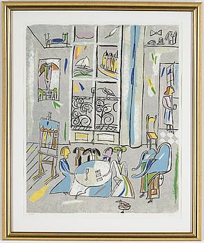 MADELEINE PYK, färglitografi, signerad och numrerad 166/190.