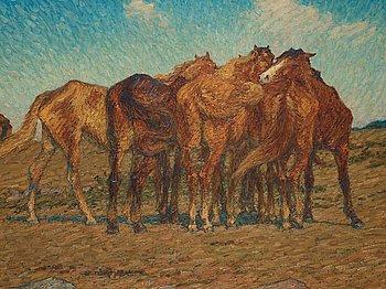 399. NILS KREUGER, (A drove of Horses).
