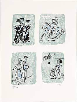 MADELEINE PYK, litografi, signerad och numrerad 154/200.