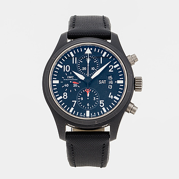 "IWC, Schaffhausen, Pilots Watch, ""Top Gun"", chronograph, wristwatch, 44 mm,"