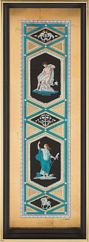 A WALL DECORATION, print, signed C. Sabelli, 20th century.