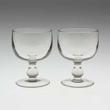 ERIK HÖGLUND, ERIK HÖGLUND, glass, 12 peices, Boda, 1960.