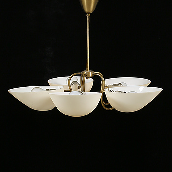 A 1950s swedish ceiling lamp, height 51 cm.