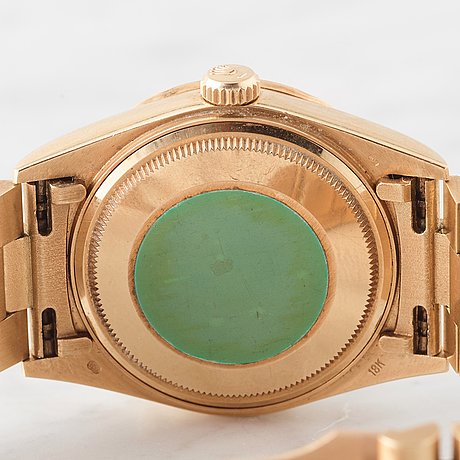 """Rolex, oyster perpetual, day-date, chronometer, """"myriad dial"""", wristwatch, 36 mm,"""
