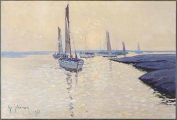 YO JOHANSSON, olja på duk, signerad och daterad 1928.