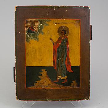 An Russian icon of Saint Boniface, early 19 Century.