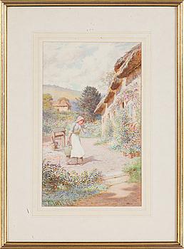 JOSEPH KIRKPATRICK, akvarell, signerad.