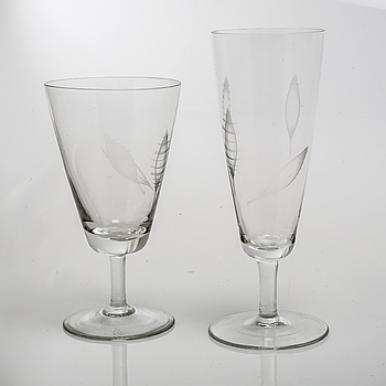 A set of glass tableware, 26 pcs, by Rosenthal, second half of the 20th century.