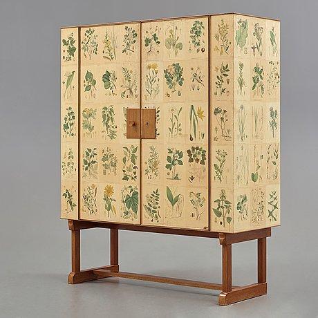 Josef frank, a 'flora' cabinet, svenskt tenn, sweden probably 1950's, model 852.