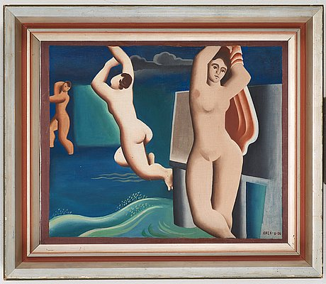 Erik olson, composition with bathers.