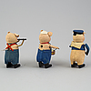 A set of 3 schucofigures, germany 1930's