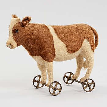 STEIFF, Ko på hjul, Tyskland 1910-tal.