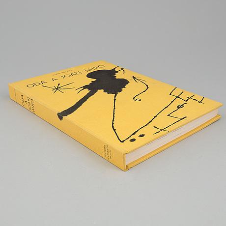 "Book, ""oda a joan mirÓ"", joan brossa, signed by joan miró and joan brossa."