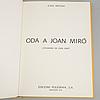 """Bok, """"oda a joan mirÓ"""", joan brossa, signerad av joan miró samt joan brossa."""