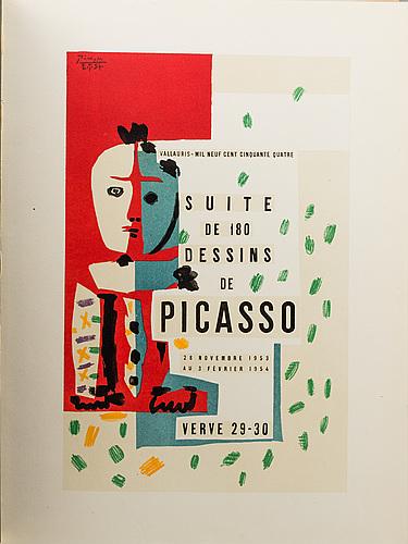 """Pablo picasso, """"suite de 180 dessins de picasso"""". verve, vol viii, no 29-30."""