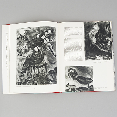 "BÖcker, 3 st, ""hommage a marc chagall, -joan miró, -alexander calder, ""xxe siècle, g. di san lazzaro."