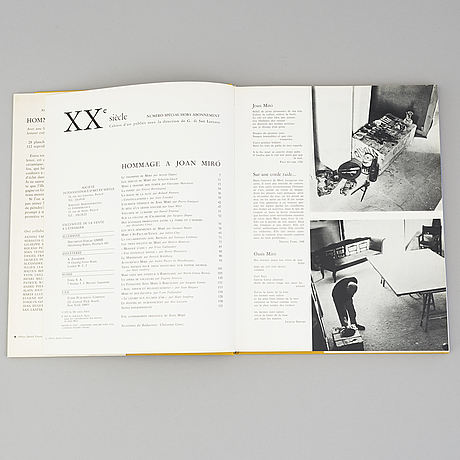 """Three books, """"hommage a marc chagall, -joan miró, -alexander calder, """"xxe siècle, g. di san."""