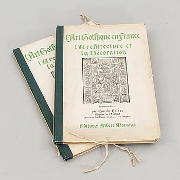 L'ART GOTHIQUE EN FRANCE... 2 Vol,Camille Enlart.  Albert Morancé,1913-1925.