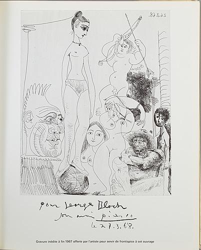 Pablo picasso, georg bloch i-ii, catalogue de l'oeuvre gravé et lithographié, 1904-1969.