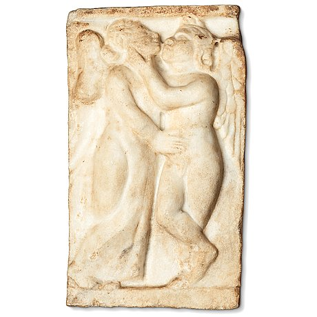 A marble relief, probably roman 100-200 ad.