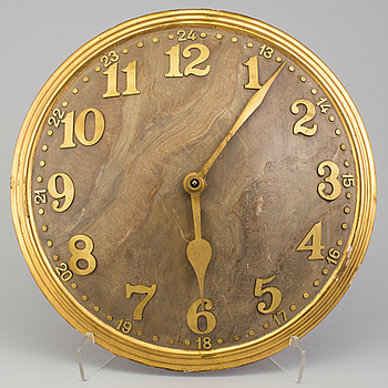 A WOODEN WALL CLOCK, Zenith, first half of the 20th century.