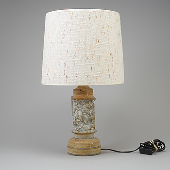 A table lamp, stoneware, Ego Ateljé, signerad BK.