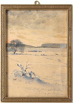 REGINA KYLBERG-BOBECK, tillskriven. Akvarell, osignerad.