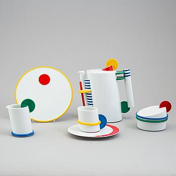 """KAFFESERVIS, 15 delar, porslin, Rosenthal, Marcell Morandini, """"Color"""", 1987, 63/250."""
