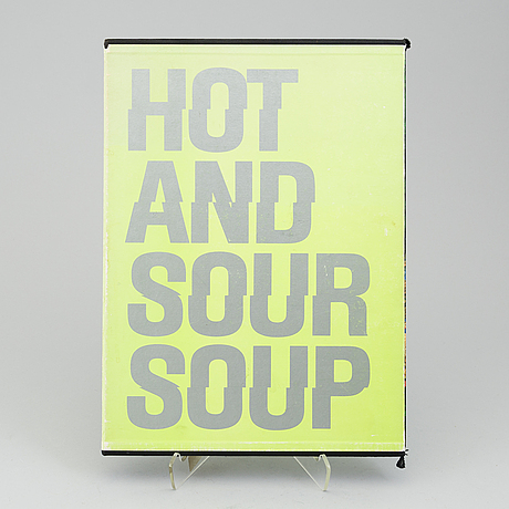 "Walasse ting, ""hot and sour soup"", (1969), artist proof, signed and dated october 1990."