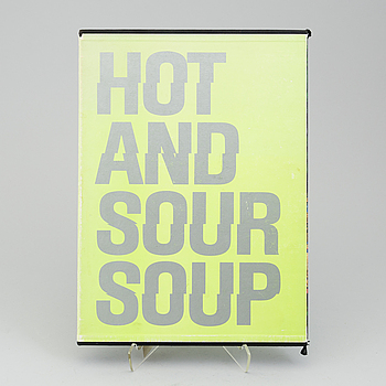 """WALASSE TING, """"Hot and Sour Soup"""", (1962) mapp med 22 litografier, signerad, artist proof och daterad oktober 1990."""