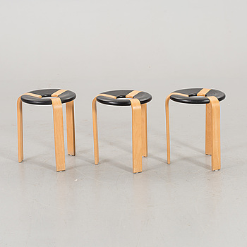 A set of three danish Durup stools, later part of the 20th century.