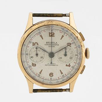 BRUNELA, Chronographe Suisse, armbandsur, 37,5 mm, kronograf.