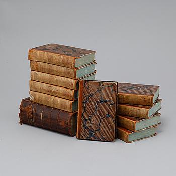 BÖCKER, 11 st, bl a Bibeln samt KARTOR, 5 st 1800-tal.