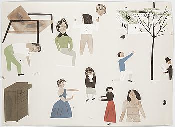 """JOCKUM NORDSTRÖM, """"Every neighbor is a customer"""". Färglitografi, signerad och numrerad med blyerts 149/250."""