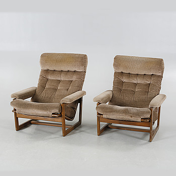 """A pair of armchairs named """"Primula"""" from Ulferts, 1970s."""