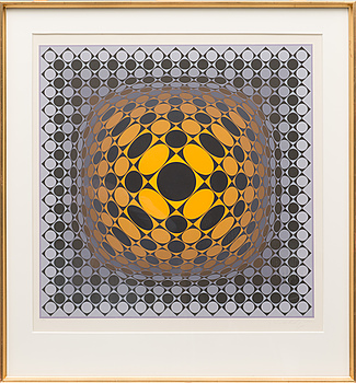 VICTOR VASARELY, Colour serigraph, signed and numbered 11/267.