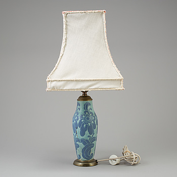 "JOSEF EKBERG, bordslampa, ""Sgrafitto"", Gustavsberg."