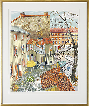 MONA HUSS WALIN, färglitografi, ej signerad och numrerad 195/420.